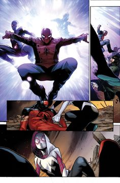 SPIDER-VERSE begins here (if you don't count EDGE OF SPIDER-VERSE) and here's an exclusive first look.