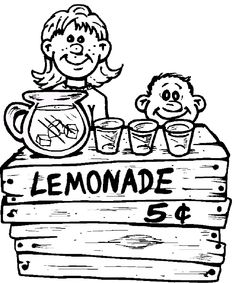 Online coloring pages, Online coloring and Lemonade stands ...