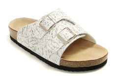 Birkenstock Vaduz Womens White Black Sandals Outlet