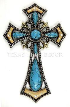 Wall Decor Crosses turquoise wall cross fleur de lis decorative cast iron victorian