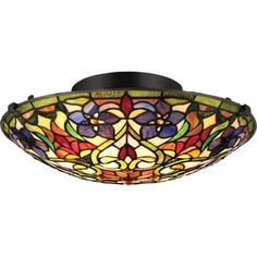 Shop for Quoizel Violets Vintage Bronze-finished Steel Large Floating Flush Mount. Get free shipping at Overstock.com - Your Online Home Decor Outlet Store! Get 5% in rewards with Club O! - 20549148