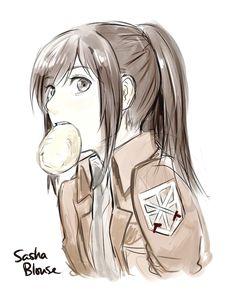 Potato girl - Attack on Titan Armin, Mikasa, Manga Anime, Film Manga, Attack On Titan 2, Attack On Titan Fanart, Potato Girl, Connie Springer, Aot Characters