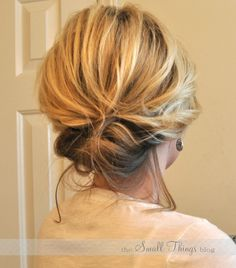 The Small Things Blog: The Chic Updo- This is a SUPER cute up style for anyone with shoulder length hair who want to try something new!