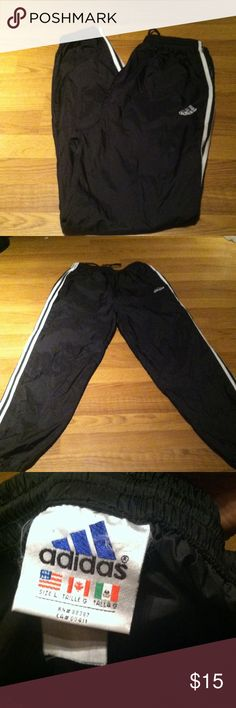 Adidas Windbreakers Joggers wore once adidas Pants Track Pants & Joggers
