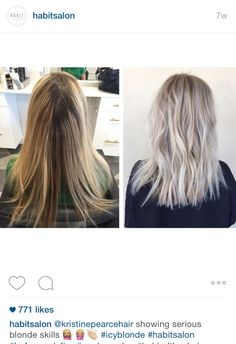 Ice blonde with ash perfection