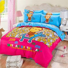 Find More Bedding Sets Information about Children Cartoon Red Single Twin Queen Size Sanding Bedding Set 3 4pcs Duvet Cover Sheet housse de couette Totoro cama bedding,High Quality bedding gifts,China bedding retail Suppliers, Cheap bedding duvet from Top Qulity Human Hair Factory on Aliexpress.com
