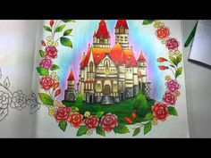 Livro De Colorir Romantic Country 1 Coloring Book Review