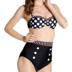 Retro Bikini Nice retro style bikini highwaisted brand new Swim Bikinis