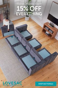 Lovesac Sactional, Living Room Furniture, Living Rooms, Furniture Design, Furniture Ideas, First Home, Great Rooms, Game Room, Beach House