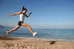 Running on the beach is the best running there is...