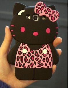 Cute Pink 3D kitty Leopard Silicone Case Cover for Samsung Galaxy S3 SIII i9300