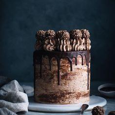 Nutella Stuffed Chocolate Hazelnut Dream Cake - The Kitchen McCabe - The Kitchen McCabe - Chocolate Hazelnut, Homemade Chocolate, Hazelnut Cake, Cake Chocolate, Chocolate Cake Designs, Chocolate Drip, Cupcake Cakes, Cupcakes, Cake Recipes