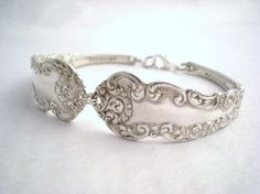 CORDOVA 1898 - Antique Upcycled Silverplate Spoon Bracelet - Silverware Flatware Jewelry By Mon Petit Chou Boutique on Etsy