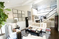 Modern Country Style: How To Successfully Use Farrow and Ball Shaded White Throughout Your Home! Click through for details. Eclectic Living Room, Living Spaces, Living Rooms, Cozy Reading Corners, Reading Nooks, Interior Decorating, Interior Design, Decorating Ideas, Decor Ideas