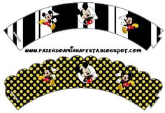 Mickey Mouse Free Printable Wrappers.