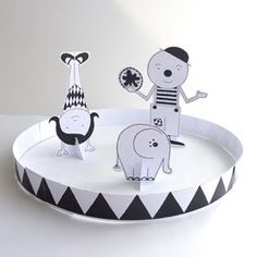 Cut out and play circus from Lovely Pigeon.