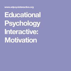 Motivation from an educational psychology journal's prospective