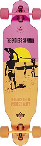 "Dusters California Skateboards Endless Summer Wake Complete Skateboard - 9.37"" x 38"""