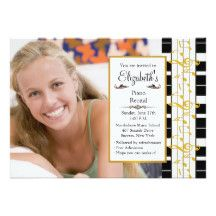 A stylish photo invitation featuring piano keys border with golden music notes.  Perfect for piano recitals or for a music lover's birthday celebration.  <br/>The card is easy to customise with your wording, font, font colour and choice of six paper types.<br/><br/>Not exactly what you're looking for?  All our products can be custom designed to meet your needs at no extra charge.<br/><br/>Simply contact us at askcottonlamb@gmail.com<br/><br/>Coordinating products available: