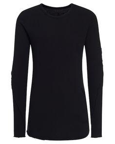 Thom Krom Sweathirt in langem Schnitt – schwarz Jetzt auf kleidoo.de bestellen!  #kleidoo #fashion #trend #model #sweatshirt #black #thomkrom