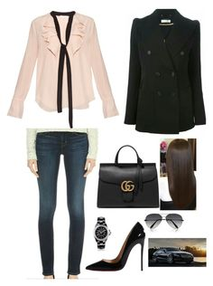 """""""day 13"""" by kainat-pervez ❤ liked on Polyvore featuring мода, Chloé, Christian Louboutin, Gucci, Chanel, women's clothing, women, female, woman и misses"""