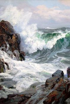 "Charles Vickery (1913-1998) ~ ""Coming To Blow"" (Détail)"