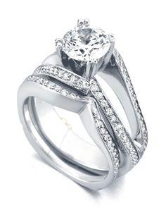Engagement and wedding band...