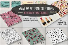 30%OFF Seamless Pattern MakeUp Set  by IRCY GRAPHIC on @creativemarket