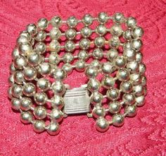 Beach gurl to Hollywood baby!  Vintage Silver Ball Sterling Bracelet by trishnajewelry for $375.00
