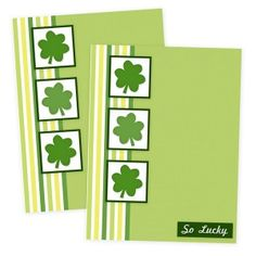 Free Printable St Patricks Card  (Pinning for the look)