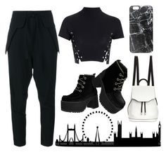 """London chic"" by effing-justice on Polyvore featuring Glamorous, T.U.K., Chloé, rag & bone and Casetify"