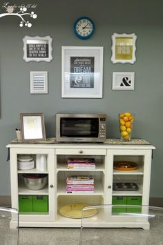 Lookie What I Did: Teacher Lounge Makeover Staff Lounge, Teacher Lounge, Student Lounge, Teacher Office, School Office, Teacher Stuff, Calgary, Teacher Lunches, Microwave Stand