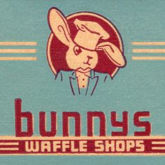 Bunnys Waffle Shops, San Francisco, CA vintage matchbook cover