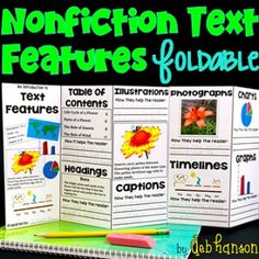 This engaging foldable pack includes two different activities related to nonfiction text features.