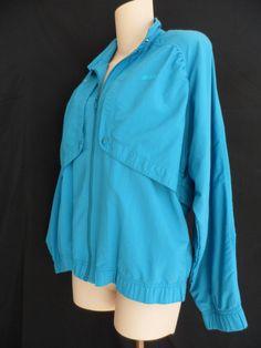 Prince Vtg. Tennis Jacket Lightweight Windbreaker Warm Up Full Zip Blue Size S  #Prince #CoatsJackets