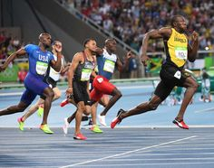 Usain Bolt (JAM) competes in the men's 200m final at Estadio Olimpico Joao Havelange during the Rio 2016 Olympic Summer Games.