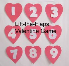 This is a fun Valentine game you can make for a large or small group of children. Children will have fun lifting the flaps to see what is hidden underneath.