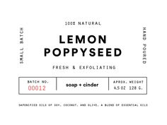 Handmade Soap Label designed by Elliott Snyder. Connect with them on Dribbble; Soap Labels, Candle Labels, Soap Packaging, Brand Packaging, Packaging Design, Branding Design, Logo Design, Label Design, Print Design