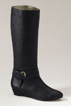 lands' end canvas   emerson demi wedge boot