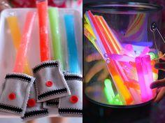 freeze pop light sabers:: Star Wars Party