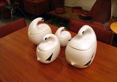 Ptarmigan Ceramic Collection by La Céramique de Beauce - Doug Funk Vintage Pottery, Jar, Beautiful, Collection, Home Decor, Homemade Home Decor, Jars, Decoration Home, Glass