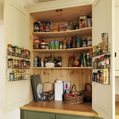 Larder | Step inside this traditional muted green kitchen | Reader kitchen | PHOTO GALLERY | Beautiful Kitchens | Housetohome