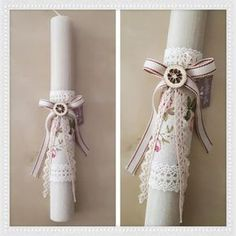 Handicrafts: Πασχαλινές Λαμπάδες 2018 Easter candle by Stella Handicrafts. Λαμπάδα. Πασχαλινές Λαμπάδες by Stella Handicrafts. Baby Baptism, Christening, Baptism Dress, Crafts For Girls, Diy And Crafts, Shabby Chic Candle, Easter Crafts, Easter Ideas, Palm Sunday