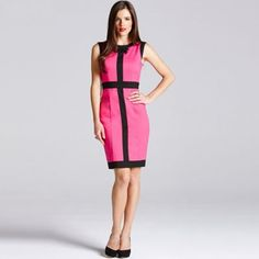 Paper Dolls Pink and black trim wiggle dress- at Debenhams.com Occasion Wear, Special Occasion, Wiggle Dress, Debenhams, Black Trim, Paper Dolls, Dresses For Work, Pink, How To Wear