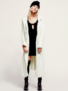 Free People New Lengths Fuzzy Sweater Jacket, $298.00