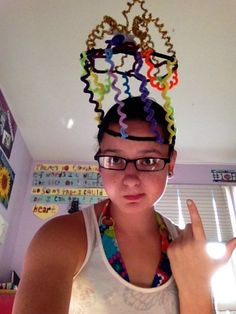 neat idea for crazy hat day, make your own out of pipe cleaners!