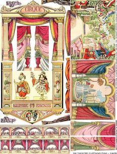 Bilderesultat for toy theatre Vintage Paper Dolls, Antique Dolls, Paper Art, Paper Crafts, Vitrine Miniature, Toy Theatre, Paper Houses, Toy Craft, Paper Models