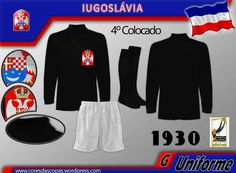 Yugoslavia goalkeepers kit for the 1930 World Cup Finals.