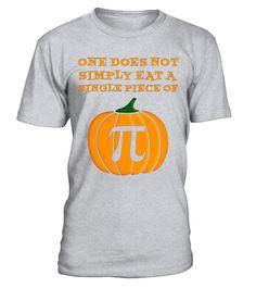 Halloween Pumpkin Pi T Shirt Math Algebra Kids Women Men
