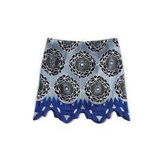 Thakoon Addition Lace Hem Mini Skirt ($320) ❤ liked on Polyvore